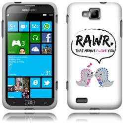 Samsung ATIV S T899m i8750 Hard Cover - Dinosaurs Love Story