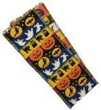 Halloween Night Moon Cat RIP Bats Ghosts Witch Handloom Woven Fringed Table Runner 13x74