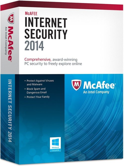 Mcafee 731944645049 Internet Security 2014 - 3 Pcs - 1 Year