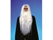 Merlin Magician White Wig & Beard Adult Costume Set