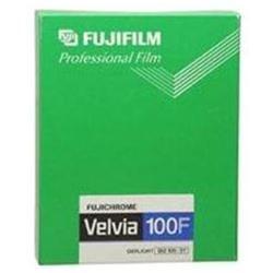 Fujifilm Fujichrome Velvia RVP 100F Color Slide Film, ISO 100, 4in x 5in, Transparency, 20 Sheets