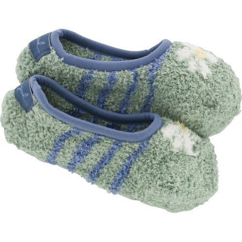 Life is good. Womens Lightweight Snuggle Footsie - Stripe - Soft Blue - OS