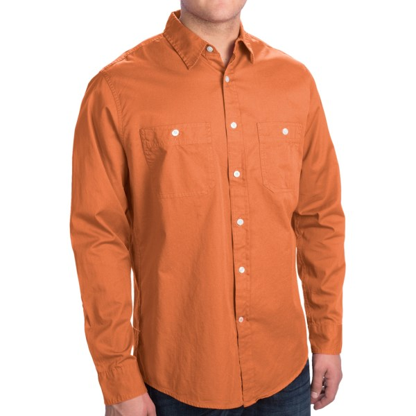 Dockers Solid Cotton Twill Shirt - Long Sleeve (For Men)
