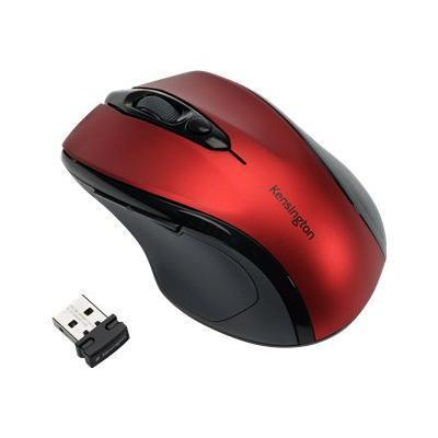 Kensington K72422ww Pro Fit Mid-size - Mouse - Right-handed - Optical - Wireless - 2.4 Ghz - Usb Wireless Receiver - Ruby Red