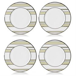 Mikasa 5066242 Ivory-Platinum Stripes Set of 4 Accent Placesetting