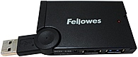 The Fellowes Mini 077511985355 4 Port USB Hub allows you to connect 4 external devices via USB