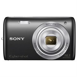 Sony Cyber-shot DSC-W670 16.1 MP Digital Camera - Black