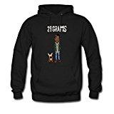 Gua9 Men's Refashion Cool Wiz Khalifa Pullover Design Sweatshirt Large Black