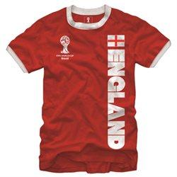 England FIFA 2014 World Cup Soccer Core Ringer Men's T-Shirt