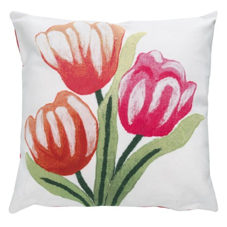 Indoor/outdoor Warm Tulips Throw Pillow - 20x20?