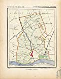 Antique Map-NETHERLANDS-TOWN PLAN-VLAARDINGER AMBACHT-ZUID HOLLAND-Kuyper-1865