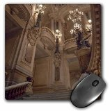 3dRose LLC 8 x 8 x 0.25 France Paris Opera Garnier Interior Jaynes Gallery Mouse Pad (mp_81387_1)