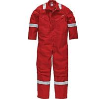 """Dickies Mens Nomex Flame Retardent Overalls Red 38"""" Chest & 33"""" Leg"""