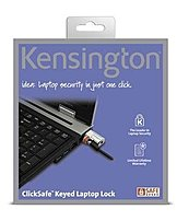 The Kensington ClickSafe Keyed Laptop Lock is a PC lock designed to effortlessly protect your data