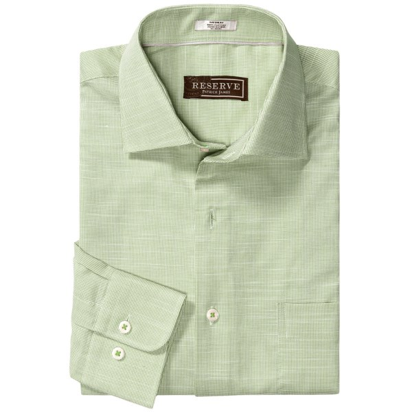 Patrick James Reserve Houndstooth Shirt - French Front, Long Sleeve (For Men)