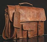 Handmade Leather Messenger Satchel Crossbody Office Laptop Briefcase Bag for Men and Women