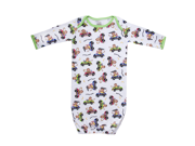 Funkoos Race Car Monkeys Organic Cotton Sleepgown For Baby / Newborn Boys, 6-9 Months