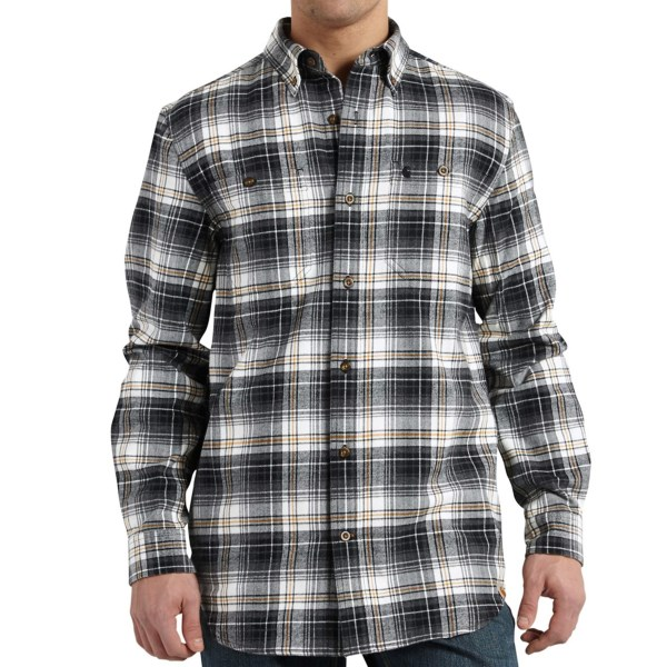 Carhartt Trumbull Flannel Shirt - Button-Down Collar, Long Sleeve (For Big and Tall Men)