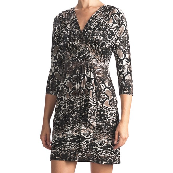 Muse Draped Surplice Dress - Long Sleeve (for Women)