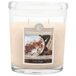 Pack of 4 Colonial Candle Hazelnut Latte Scented Brown Jar Candles - 8 oz