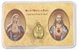 Blessed By Pope Benedit XVI Sacred Hearts Pocket Prayer Card w/Medal
