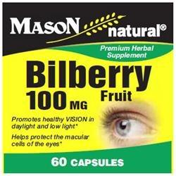 Mason Natural, Bilberry 100 mg, 60 Capsules