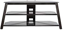Sanus Bfv53-g1 Basic Foundation Audio Video Stand For 60.0-inch Television - 3 Shelves - Metal, Glass