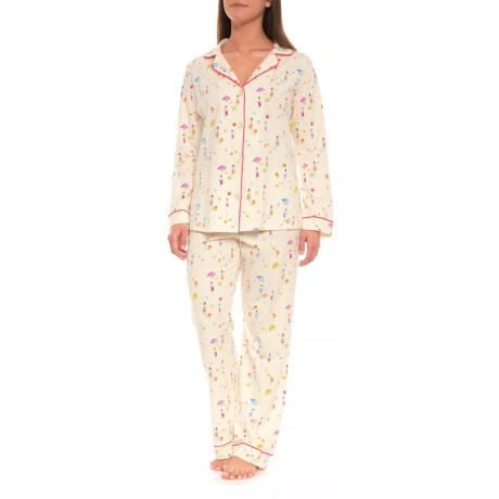 Patterned Knit Pajamas - Long Sleeve (for Women)