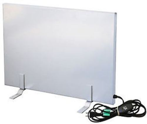 Cozy 706069235215 150 Watts Flat Panel Radiant Desk Heater - Silver