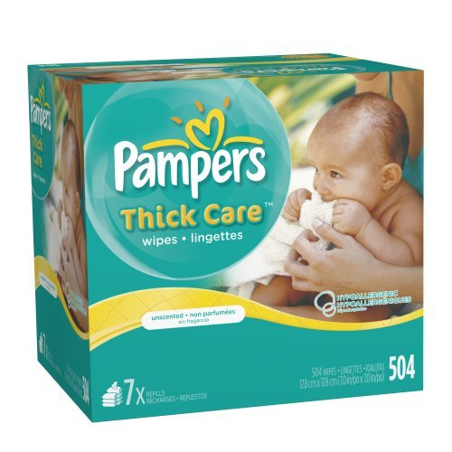 Pampers ThickCare Unscented Wipes Refill - 7x Box - 504 Count
