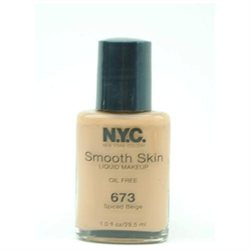 N.Y.C. SMOOTH SKIN LIQUID MAKEUP OIL FREE #H673U SPICED BEIGE