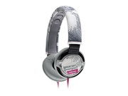 Sony Gray/pink Piiq Over Ear Super Bass Headphones W/ 3.5mm Jack Mdr-pq2