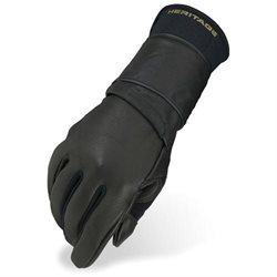 Heritage Pro 8.0 Bull Riding Glove (Left Hand Only) Adult 11 Black