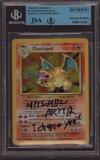 Mitsuhiro Arita Pokemon Artist Autograph inscription Charizard 4/102 JSA BGS Authentic I Choose You Base Set Signature Auto