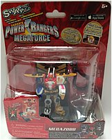 Swappz 628430123214 Power Rangers Mega Force with Coin   Mega Zord