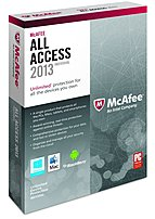 The McAfee AAI13EMB1RAA All Access Individual 2013 guard your PC from viruses and online threats, keep your inbox clear of spam and dangerous email and be warned about risky websites before you click.