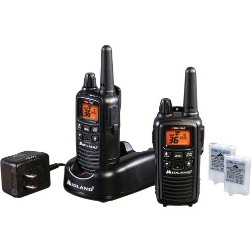 Midland Consumer Radio LXT600VP3 36 Channel GMRS with NOAA Weather Alert Up to 26 Mile Range and with Rechargeable Batteries and Charger