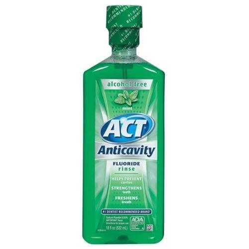 Act Fluoride Rinse, Mint, 18 oz