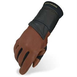 Heritage Pro 8.0 Bull Riding Glove (Right Hand Only) Adult 7 Saddle Brown
