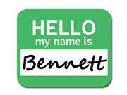 Bennett Hello My Name Is Mousepad Mouse Pad