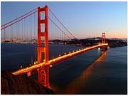 "Trademark Fine Art Pierre Leclerc 'Golden Gate SF' Canvas Art Type: Wall Art & Coverings Size/Dimensions: 24""L x 18""W x 1""H; 4 lbs"