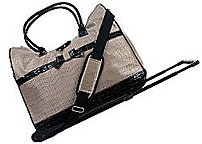 P Carry your luggage in style ul   li Made of croc printed nylon with faux croc leather accents
