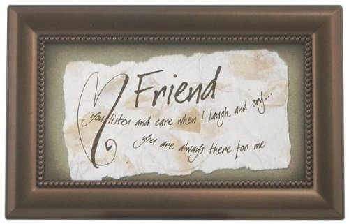 Friend Music Box jewelry box always there for me brown Fur Elise