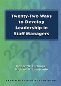 Twenty-two Ways To Develop Leadership In Staff Managers