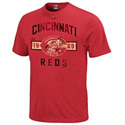 Cincinnati Reds Cooperstown Desire More T Shirt by Majestic