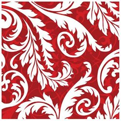 Pack of 192 Red and White Peppermint Swirl Christmas 3-Ply Party Lunch Napkins