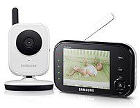 Samsung Babyview Sew-3036w Wireless Video Baby Monitor With Infrared Night Vision And Zoom - 3.5 Inch Display