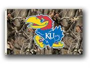 Bsi Products 95414 3 Ft. X 5 Ft. Flag W/Grommets - Realtree Camo Background - Kansas Jayhawks