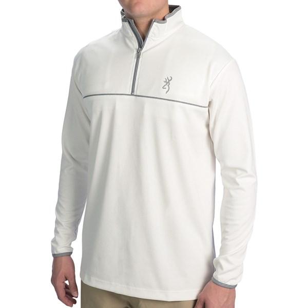Browning Highline Shooting Shirt - Zip Neck, Long Sleeve (For Big Men)