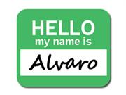 Alvaro Hello My Name Is Mousepad Mouse Pad